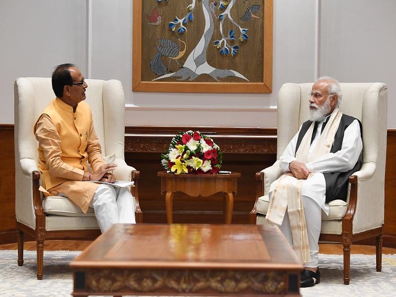 CM shivraj MEET PM MODI
